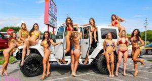 Bikini contest, Lakeland, Winners circle, Wings, Beer, Models, St. Patrick's Day