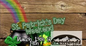 St. Paddys Day, Brewlands, Party, Pool, Darts, Nonsmoking, Green teas, Jameson, Luck of the Irish