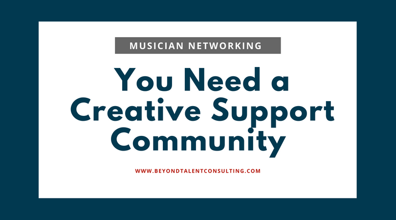 musicians: you need a creative support community | Angela Beeching