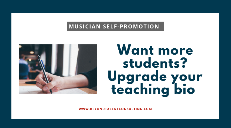 Upgrade your teaching bio
