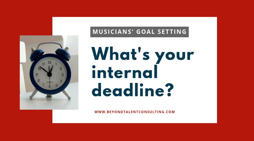 Your internal deadline (shows alarm clock)