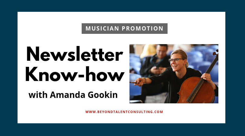 Amanda Gookin cellist teaches how to upgrade your musician newsletter