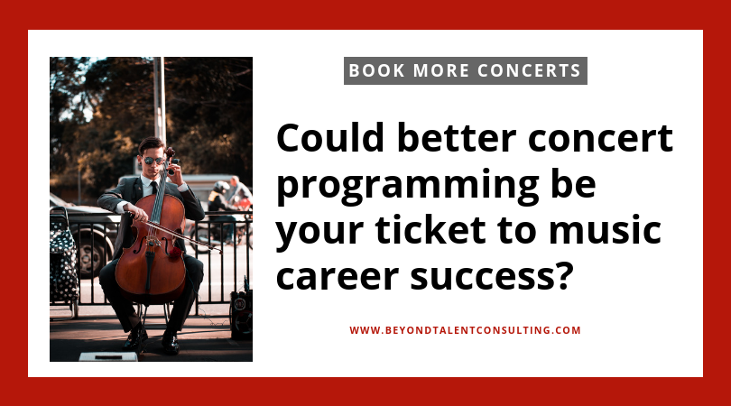 Want to book more concerts check your programming!