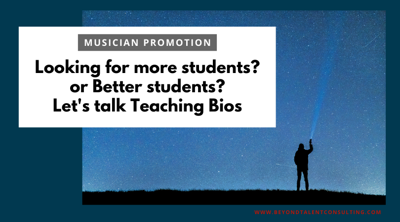 Your Teaching Bio as a Call to Action
