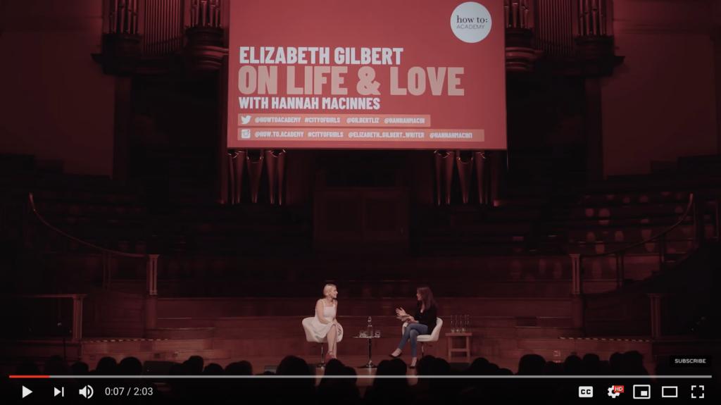 Liz Gilbert on Perfectionism — for Musicians