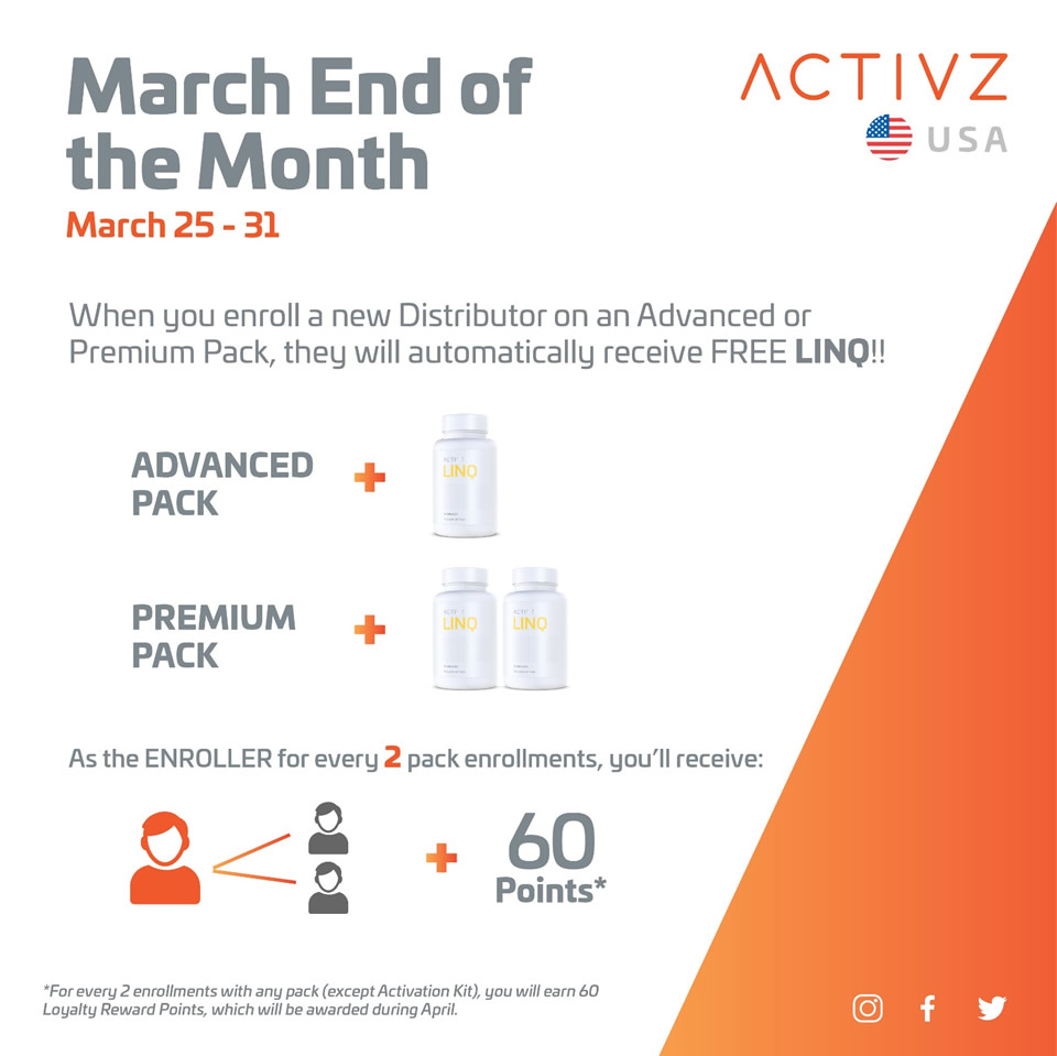 activz end of month promotion
