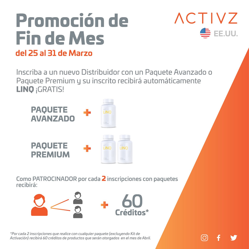 ACTIVZ- Promocion Fin de mes us-esp