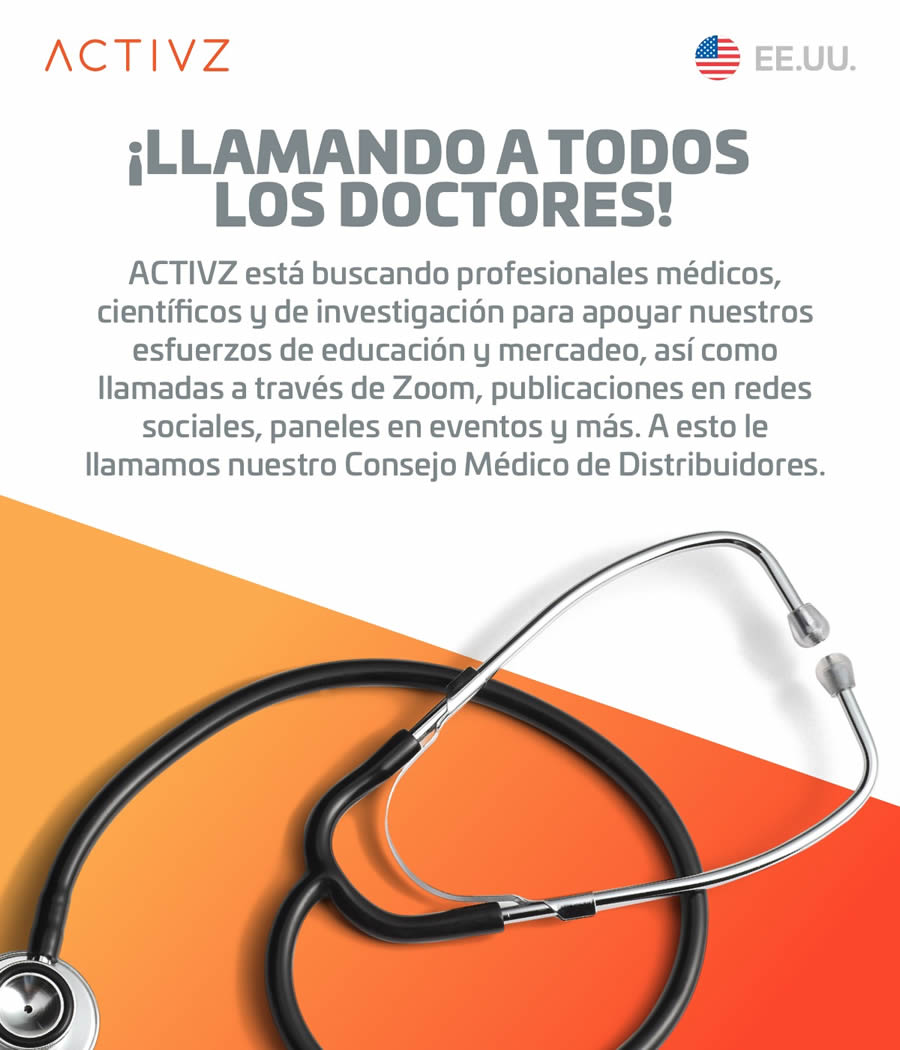 ACTIVZ calling all doctors USA ESP