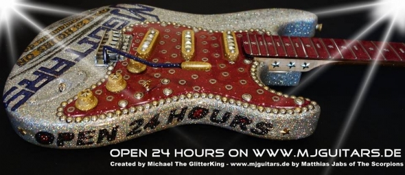 Design Guitars created by Multi Artist Michael The GlitterKing