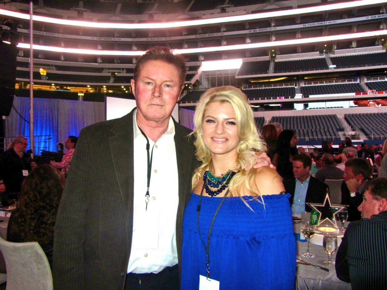 Jackie Leigh and Don Henley  - Jackie Leigh and Don Henley (The Eagles) at Dallas Cowboys Stadium. Todd Wagner Foundation Event. This man was a huge influence on my vocal melody arrangements when writing. Huge idol.