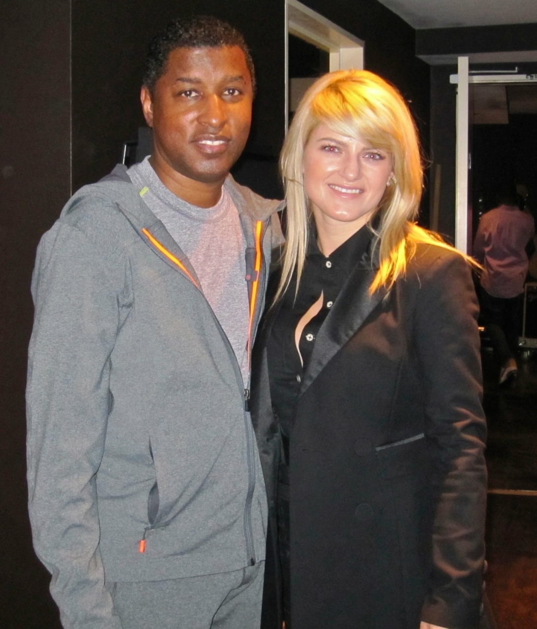 "Jackie Leigh and Babyface - Jackie Leigh and Babyface (Kenny Edmonds) at Babyface Ent. Studio ""Brandon's Way."" He has sold over 500 million records worldwide and has over 200 top 10 hits. Babyface and L.A. Reed are the 2 behind the successful record label, La Face Records. In 2009, Jackie Leigh recorded her self entitled EP at Brandon's Way Studio with Babyface's underling, Grammy winning producer,  Adonis Shropshire."