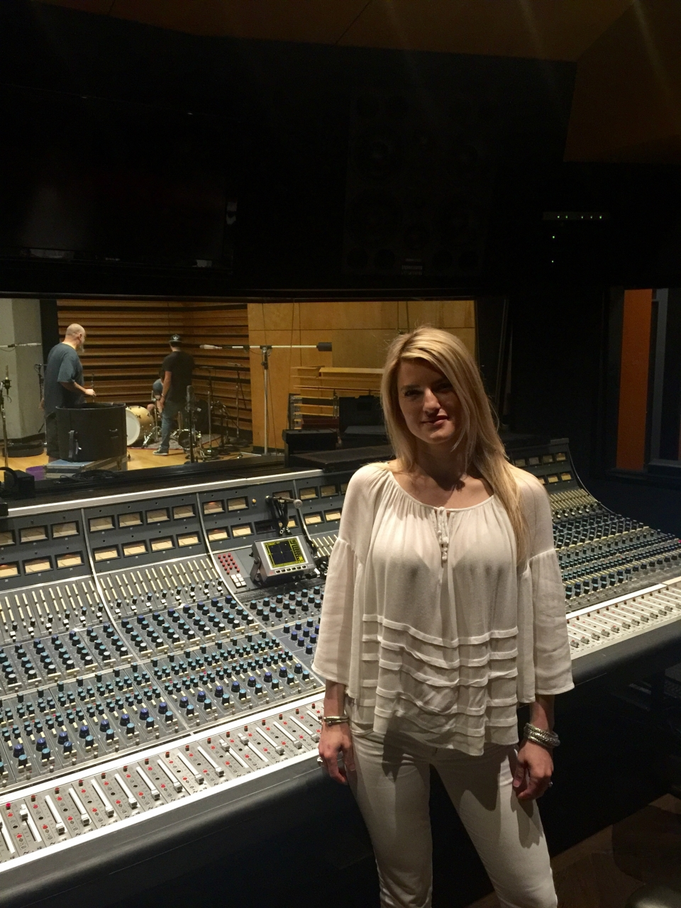 Production NRG NOHO - Tracking drums at famous NRG studio in NOHO. Writer & co producer Jackie Leigh. Producer Matt Squire. Band Drayter.