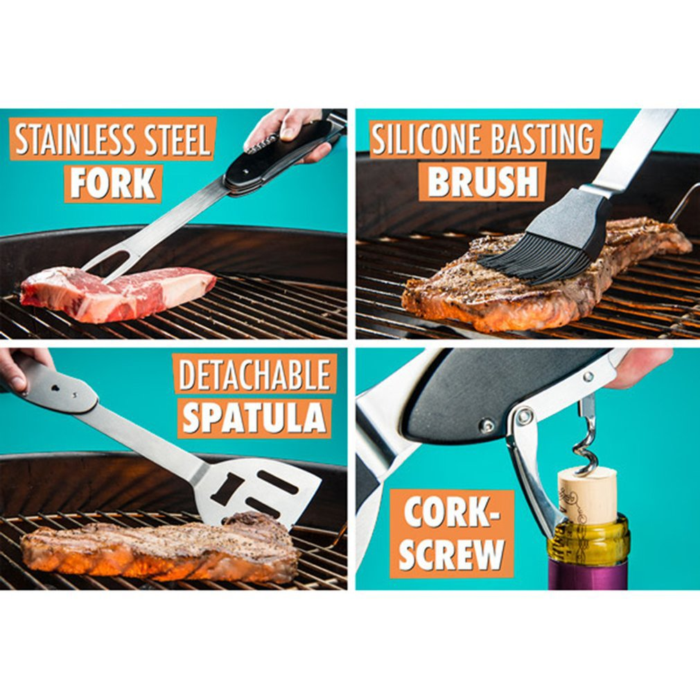 5-in-1 folding bbq tool for kitchen accessories® - best