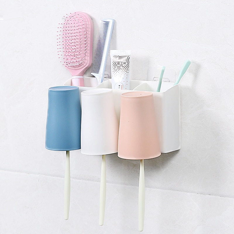 Wall-Suction Toothbrush Holder for Bathroom Accessories ...