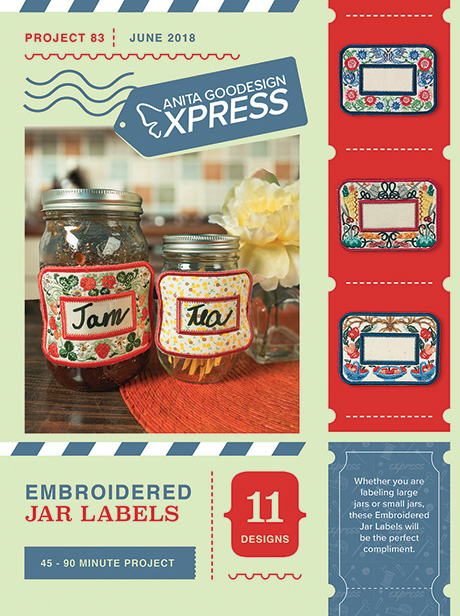 embroidered jar labels embroidery for home canning anita goodesign
