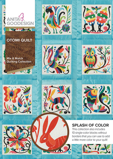 Otomi Quilt Embroidery Quilting Designs Anita Goodesign