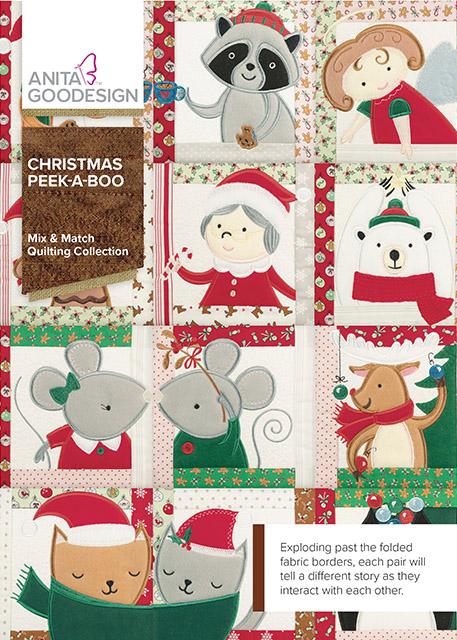 Christmas Peek A Boo Quilt Blocks Designs Anita Goodesign