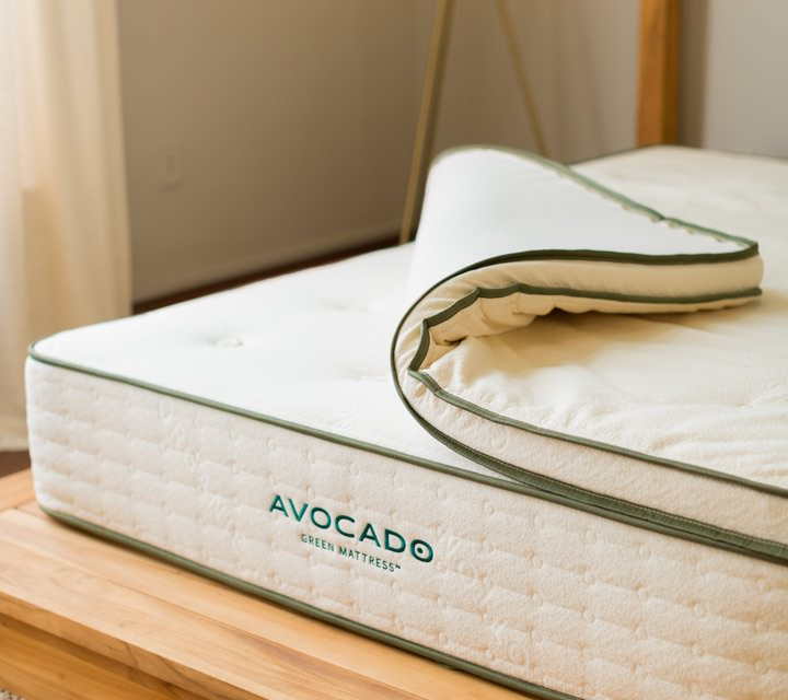 Natural Latex Mattress Topper Avocado Green Mattress Topper