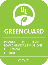 Greenguard Gold Certified for Low Emissions and VOCs