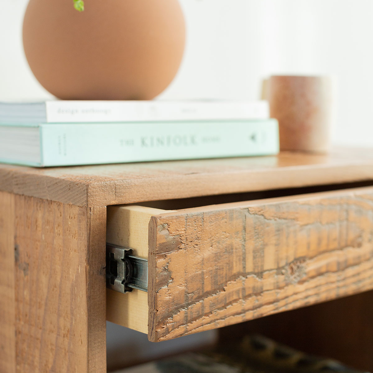 Natural Wood End Table Product Photo