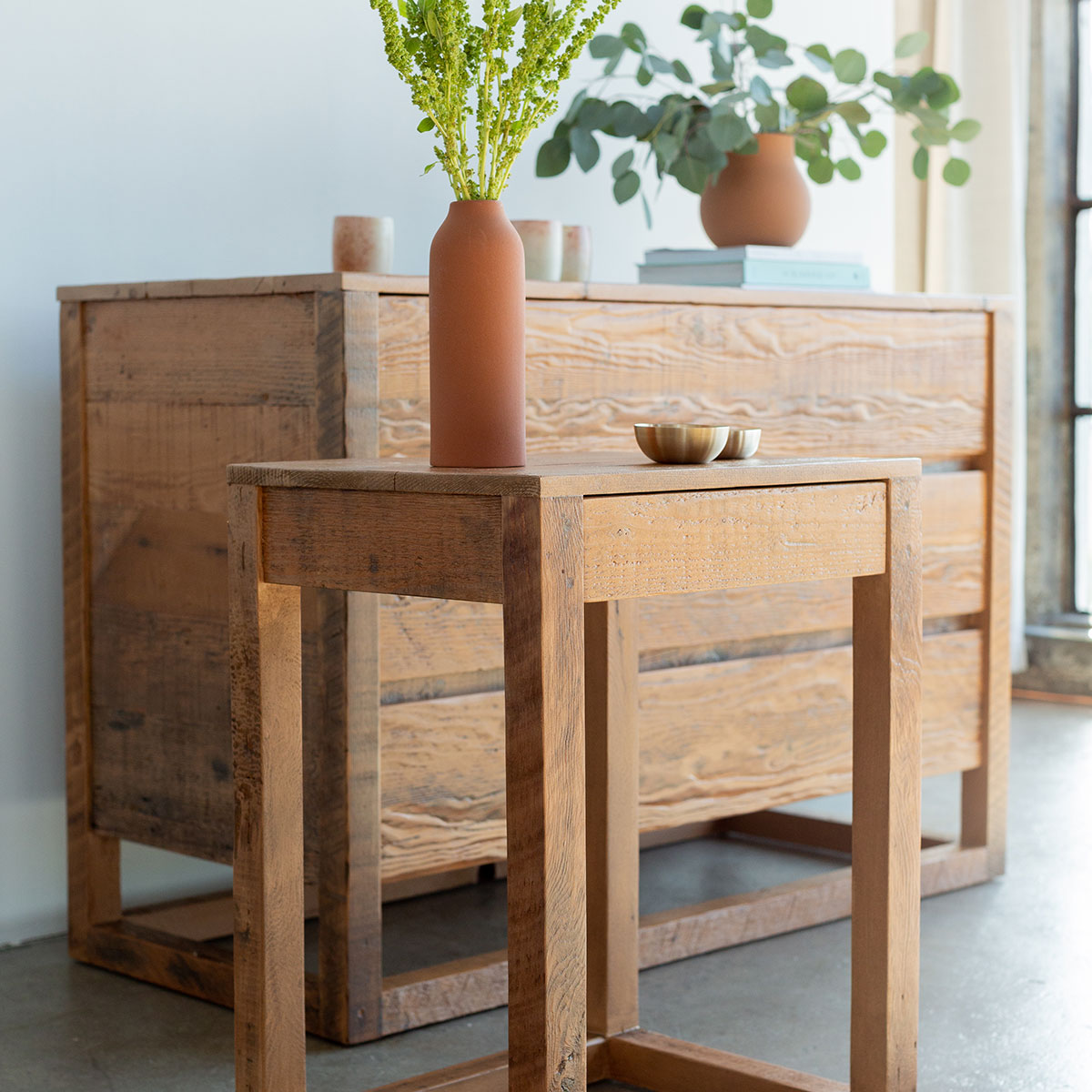 Eco Wood End Table Product Photo