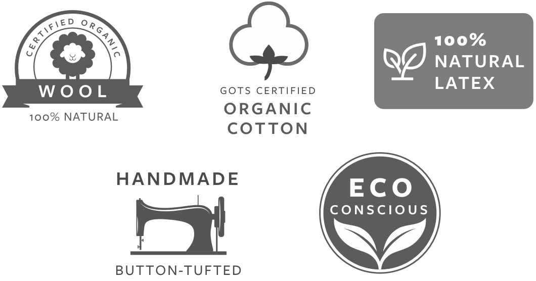 Avocado Green Natural Certification Logos