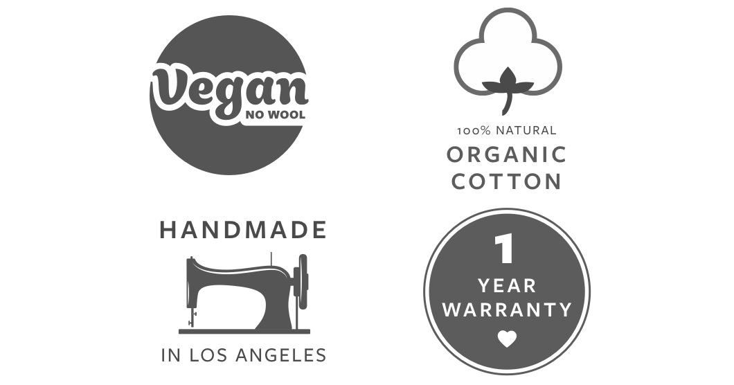 Avocado Green Vegan Certification Logos