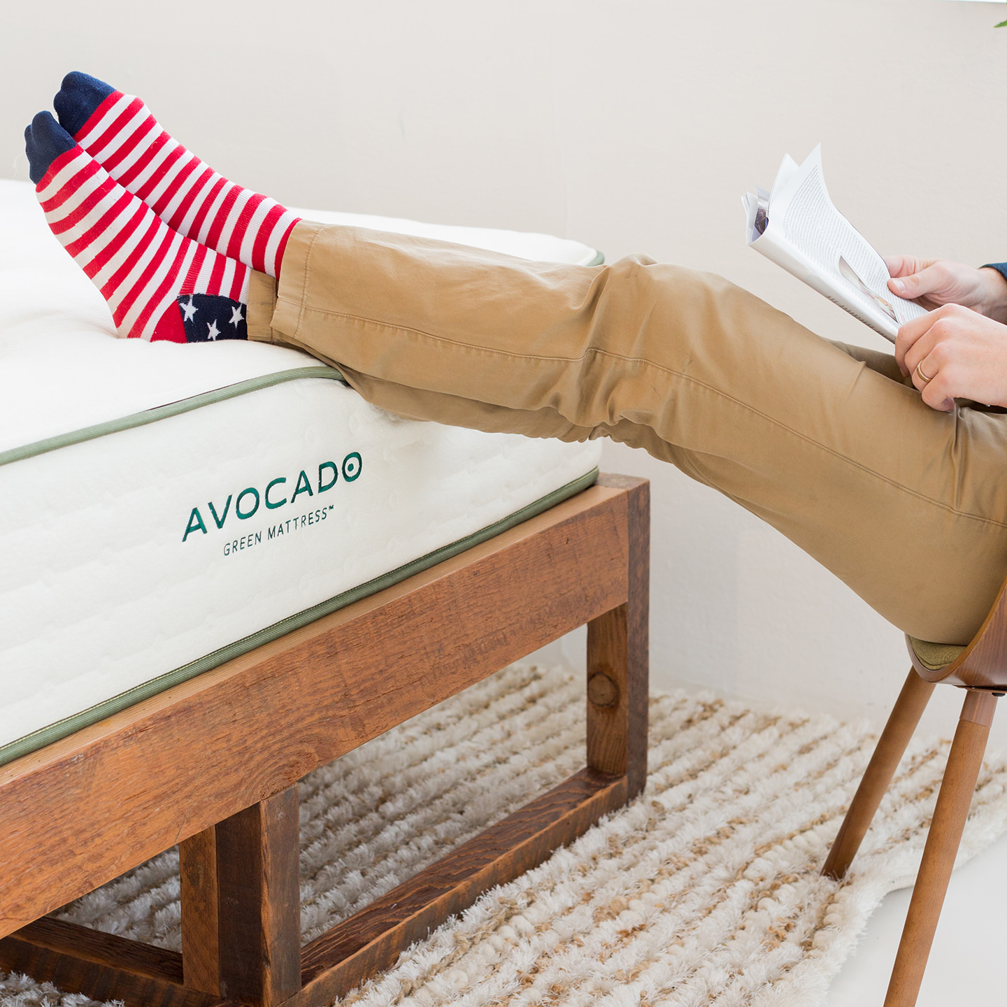 Memorial Day Sale Organic Hybrid Avocado Green Mattress