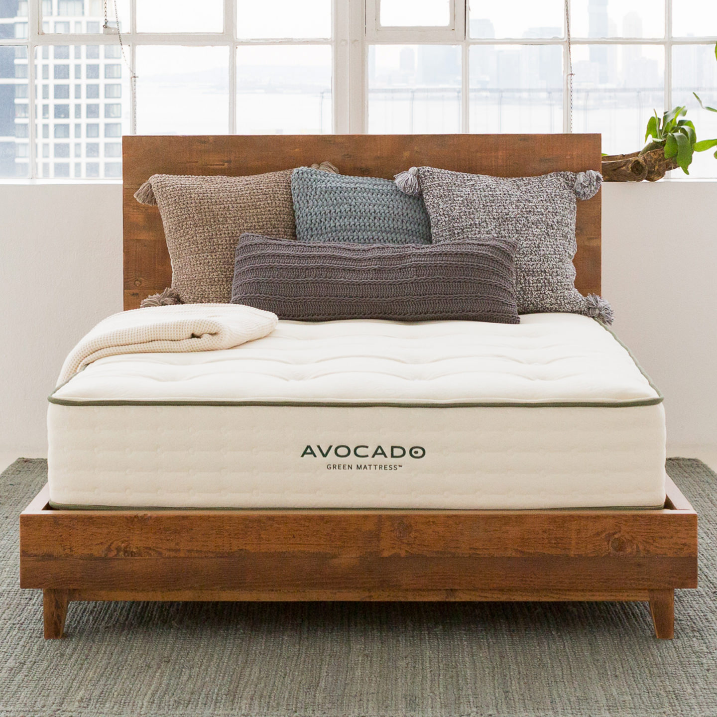 Reclaimed Wood Non toxic Bed Frame
