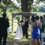 Wedding ceremony at Apple Holler