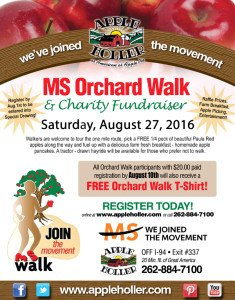 Apple Holler's MS Walk - National MS Society Wisconsin Chapter