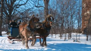 old-time sleigh ride