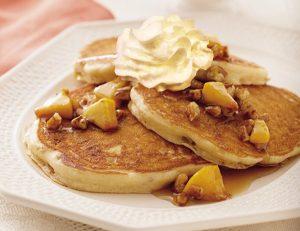Peach Praline Pancakes