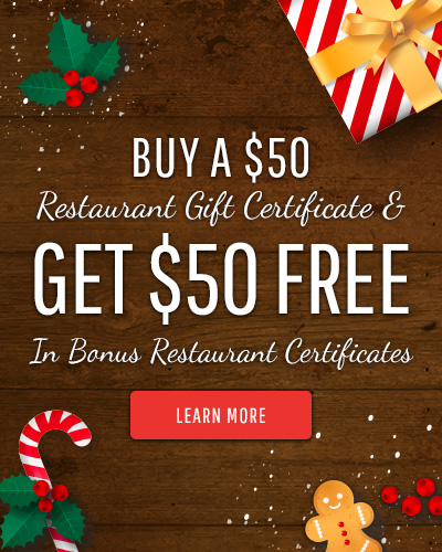 Holiday Gift Certificate Ad