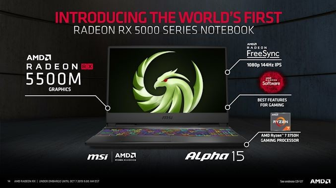 AMD lanza la gráfica Radeon RX 5500M y 5500.