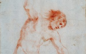 Image of a red chalk drawing
