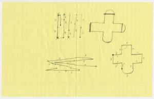 "Ellsworth Kelly, ""Early Sketch of Chapel,"" circa 1986, graphite on paper, [dimensions TK]. ©Ellsworth Kelly Foundation. Photo courtesy Ellsworth Kelly Studio"