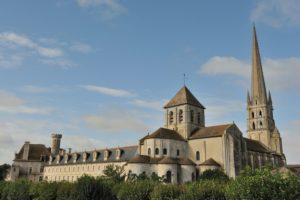 Saint-Savin-sur-Gartempe, Poitou, ca. 1060-75 (exterior perspective from northeast)