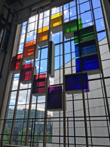 Approved glass colors installed at Mayer of Munich, May 2016. Photo courtesy TK