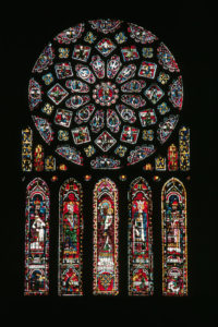 North Facade Rose and Lancet Windows at Chartres Cathedral