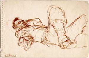 "Ellsworth Kelly, ""Abrams,"" 1944, ink on paper, 5 1/4 x 8 1/4 inches, (13.3 x 21 cm). ©Ellsworth Kelly Foundation. Photo courtesy Ellsworth Kelly Studio"