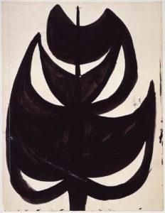 "Ellsworth Kelly, ""Vaults/Flowers,"" 1949, ink on paper, 16 1/2 x 12 1/2 inches (42 x 51 cm). ©Ellsworth Kelly Foundation. Photo courtesy Ellsworth Kelly Studio"