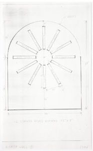 Ellsworth Kelly, Study for Stained Glass Window, North Wall, Chapel, with dimensions, 1987