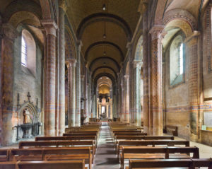 The interior of the church of Notre-Dame-la-Grande, Poitiers, Poitou Charentes, France