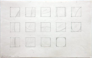 """Ellsworth Kelly, """"Study for Stations of the Cross (with Curves),"""" 1987, graphite on paper, 12 1/2 x 19 inches (31.8 x 48.3 cm). ©Ellsworth Kelly Foundation. Photo Ron Amstutz, courtesy Ellsworth Kelly Studio"""