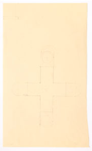 "Ellsworth Kelly, ""Study for Chapel (1st study),"" 1987, graphite on paper, 22 1/4 x 13 3/4 inches (56.5 x 34.9 cm). Blanton Museum of Art, The University of Texas at Austin. Gift of the artist and Jack Shear, 2018. ©Ellsworth Kelly Foundation. Photo courtesy Ellsworth Kelly Studio"