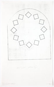 Ellsworth Kelly, Study for Stained Glass Window, South Wall, Chapel, Exterior, 1987