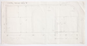 A pencil study for the North wall of Ellsworth Kelly's Austin