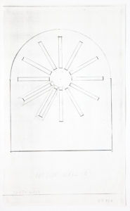 Ellsworth Kelly, Study for Stained Glass Window, North Wall, Exterior, 1987