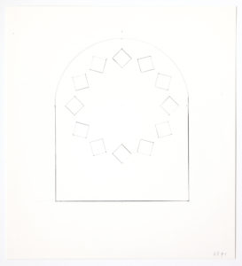 Ellsworth Kelly, Study for Stained Glass Window, South Wall, Chapel, 1987